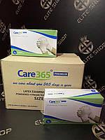 Сертифицированные перчатки латексные одноразовые Care 365, 100 шт L M