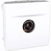 Механизм ТВ розетка одиночная, штырьковый разъём, 2 модуля, Unica белый, MGU3.462.18