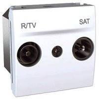 Механизм TV-R/SAT розетка одиночная, 2 модуля, Unica белый, MGU3.454.18
