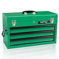 Ящик інструментальний 3 секції 508x232x302 TOPTUL TBAA0303