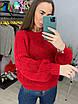 Женское вязаный свитер с рукавами фонариками (р. 42 - 46) 33dm929, фото 4