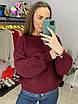 Женское вязаный свитер с рукавами фонариками (р. 42 - 46) 33dm929, фото 7