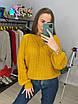 Женское вязаный свитер с рукавами фонариками (р. 42 - 46) 33dm929, фото 8