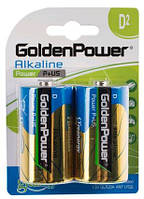 Батарейка GOLDEN POWER Power Plus D BLI 2 Alkaline