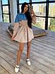 Платье - рубашка с джинсовой вставкой, на поясе кулиска (р. 42-46) 66ty1638Q, фото 3