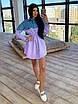 Платье - рубашка с джинсовой вставкой, на поясе кулиска (р. 42-46) 66ty1638Q, фото 8