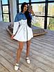 Платье - рубашка с джинсовой вставкой, на поясе кулиска (р. 42-46) 66ty1638Q, фото 9