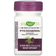 "Пикногенол Nature's Way ""Pycnogenol Pine Bark Extract"" экстракт сосновой коры, 50 мг (30 таблеток)"