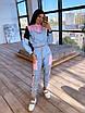 Светоотражающий женский спортивный костюм с укороченным худи и джоггерами (р. 42-44) 66rt1110Q, фото 4