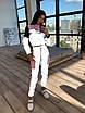Светоотражающий женский спортивный костюм с укороченным худи и джоггерами (р. 42-44) 66rt1110Q, фото 9