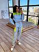 Светоотражающий женский спортивный костюм с укороченным худи и джоггерами (р. 42-44) 66rt1110Q, фото 10