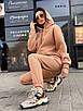 Женский теплый спортивный костюм из трехнитки на флисе (р. 42 - 48) 55rt1112, фото 7