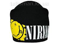 NIRVANA -2 - шапка-бини - вязанная с накаткой