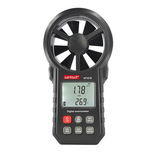 Анемометр крыльчатый USB, Bluetooth 0,3-30м/с, -10-45°C WINTACT WT87B