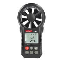 Анемометр крыльчатый USB, Bluetooth 0,3-30м/с, -10-45°C WINTACT WT87B, фото 1