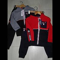 Теплые детские спортивные костюмы для мальчиков оптом GRACE  116--146см