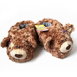 "Мягкие тапочки-игрушки ""Тедди"" 39-40, коричневый"