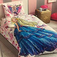Детское и подростковое постельное белье TAC Disney BARBIE ранфорс / простынь на резинке