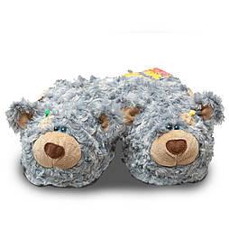 """Мягкие тапочки-игрушки """"Тедди"""" 39-40, пепел"""