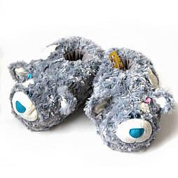 """Мягкие тапочки-игрушки """"Тедди"""" 39-40, серый"""
