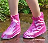 Бахіли від дощу, чохли на взуття, жіночі М білі, фото 3