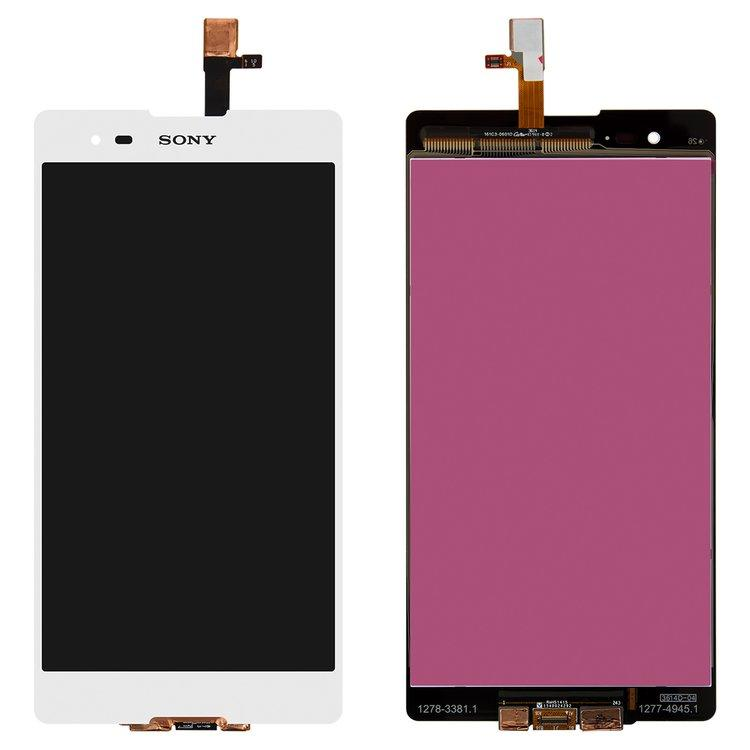 Дисплей (экран) для Sony D5303 Xperia T2 Ultra с сенсором (тачскрином) белый
