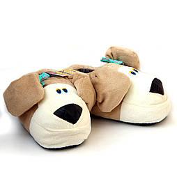 "Теплые домашние тапочки-игрушки ""Собачки"" 37-38, коричневый"