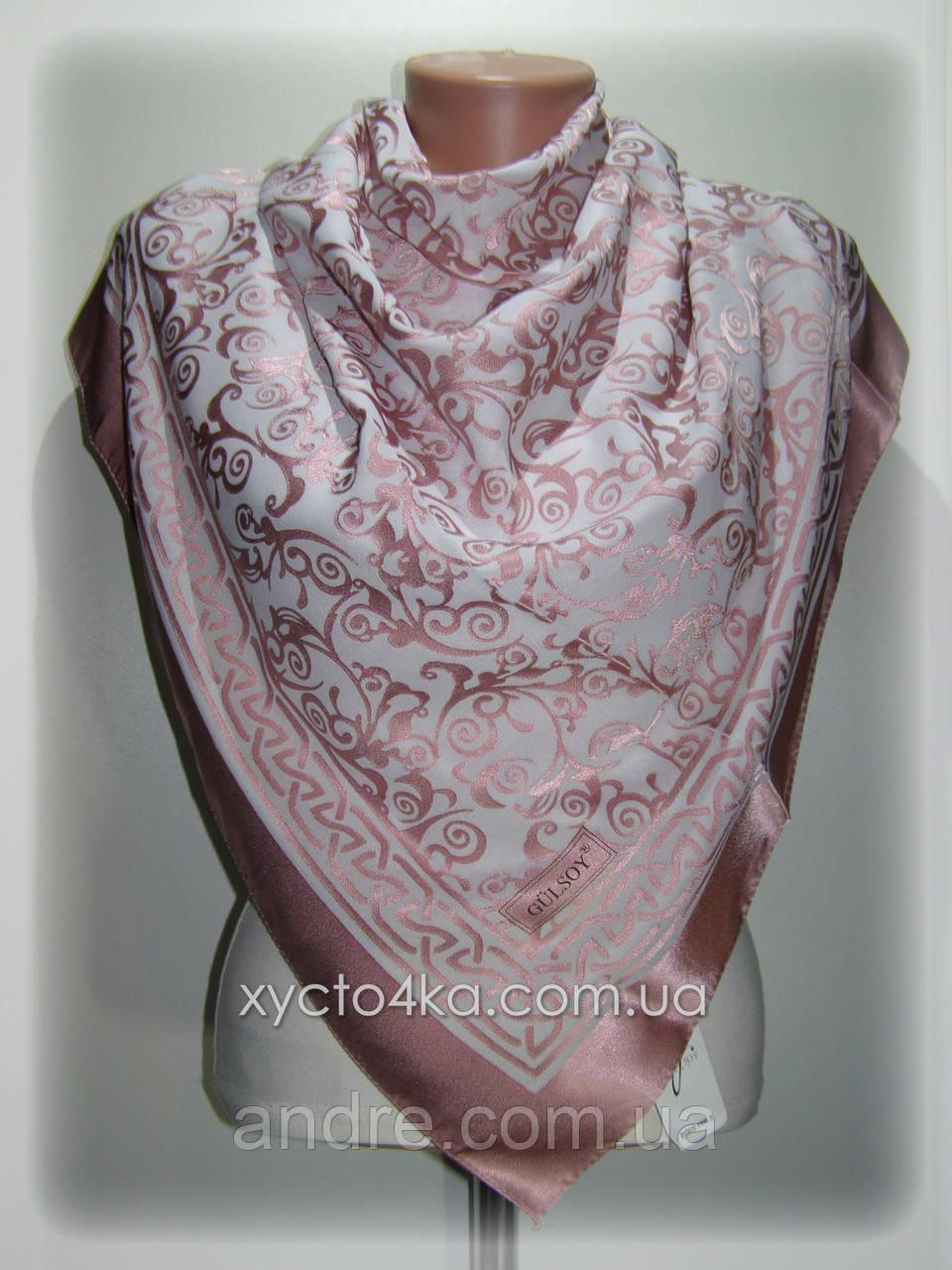 Шелковый платок Афродита, розовый