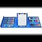 Детский художественный набор для творчества, рисования в чемоданчике (208 предметов) с мольбертом, синий, фото 3