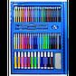 Детский художественный набор для творчества, рисования в чемоданчике (208 предметов) с мольбертом, синий, фото 7