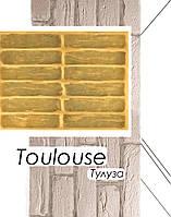Форма Тулуза для настенной плитки под декоративный кирпич из гипса полиуретановая
