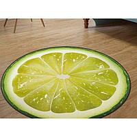 3d коврик безворсовый для дома 80 х 80 см - Лайм