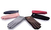 Женские перчатки оптом 2-33 mix Женские перчатки для сенсора, перчатки женские текстиль оптом Одесса 7 км