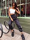 Женские спортивные штаны джоггеры со светоотражающими полосками (р. 42-46) 68bil539, фото 2