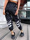 Женские спортивные штаны джоггеры со светоотражающими полосками (р. 42-46) 68bil539, фото 4