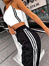 Женские спортивные штаны джоггеры со светоотражающими полосками (р. 42-46) 68bil539, фото 7