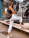 Женские спортивные штаны джоггеры со светоотражающими полосками (р. 42-46) 68bil539, фото 8