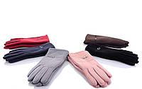 Женские перчатки оптом 2-31 mix Женские перчатки для сенсора, перчатки женские текстиль оптом Одесса 7 км
