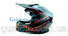 Кроссовый мотошлем 806 Spider Red Matt S/M, фото 2
