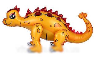 Шар-ходячка Стегозавр жёлтый 73х36см
