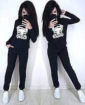Женский спортивный костюм двойка штаны и кофта c накаткой, фото 3