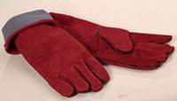 Перчатки с крагами кожаные (Спилок уплотн.)