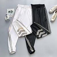 Женские спортивные штаны джоггеры со светоотражающими полосками (р. 42-46) 68mbl539, фото 1