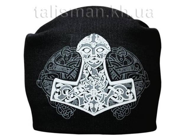 МОЛОТ ТОРА - шапка-бини - вязанная с накаткой, фото 2