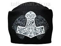 МОЛОТ ТОРА - шапка-бини - вязанная с накаткой