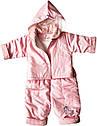 Демісезонний костюм на дівчинку ріст 68 3-6 міс для новонароджених комплект з капюшоном дитячий рожевий, фото 2