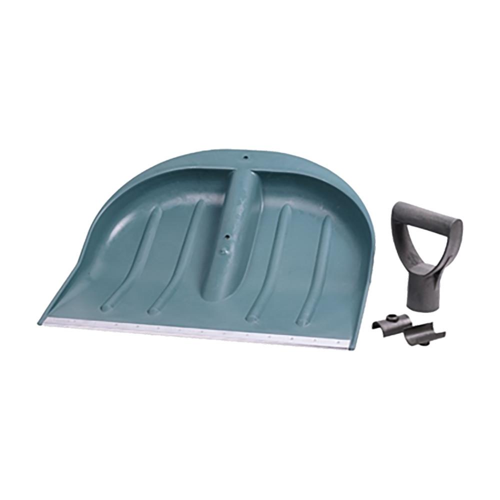 Лопата для уборки снега пластиковая с алюминиевой планкой 435×470×10мм (синяя) Grad (5049415)