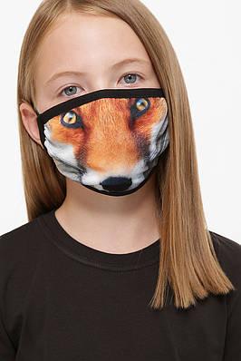 Дитяча захисна тканинна маска з принтом