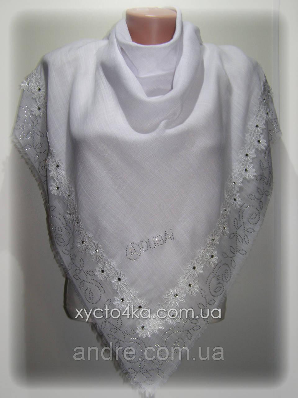 Турецкие льняные платки, каролина, белый