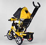 Трехколесный велосипед желтый с ручкой Best Trike 6588, фото 4